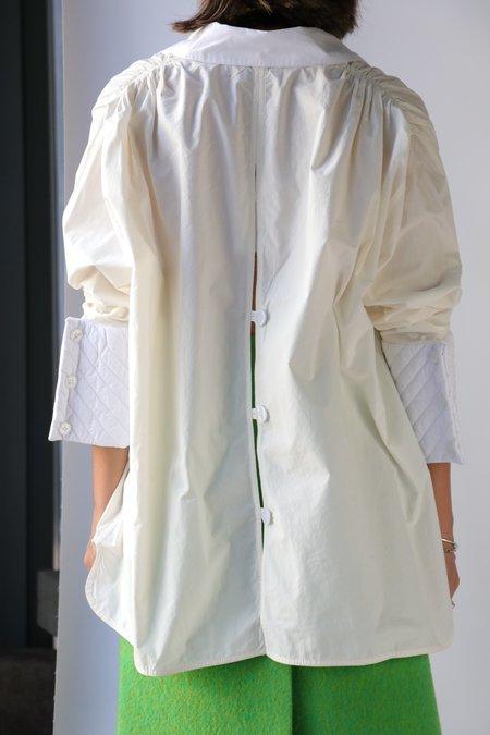 Ganni Shoulder Gathers Shirt - Vanilla Ice