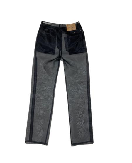 604service Organza Sheer Pants - Black