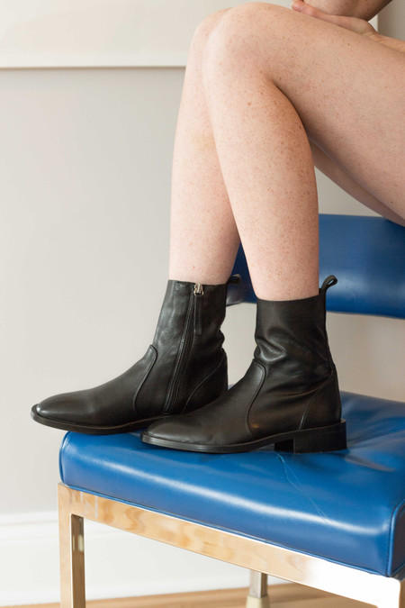 L'Intervalle Manchester Boots (Black Leather)