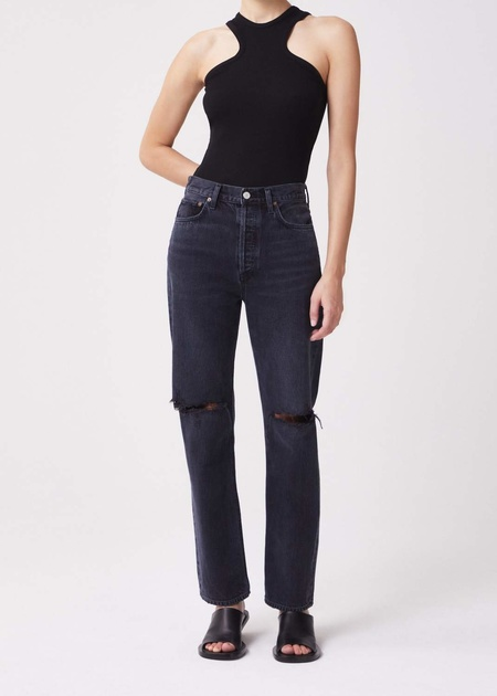 Agolde 90's Pinch Waist High Rise Straight Jeans - Howl