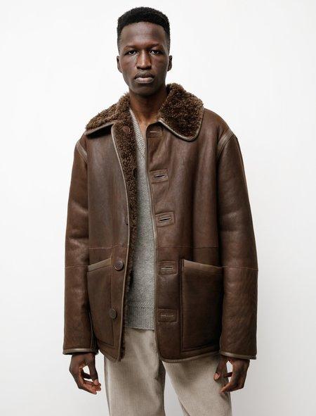 Lemaire Reversible Sheepskin Jacket - Dark Chocolate