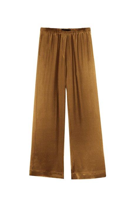 KES Minimal Wide Leg Silk Pant - Camel