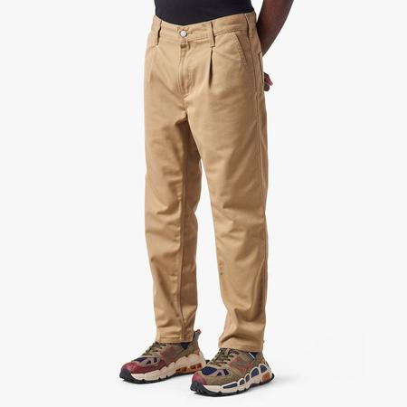 Carhartt WIP Abbott Leather Rinsed Pant - BROWN
