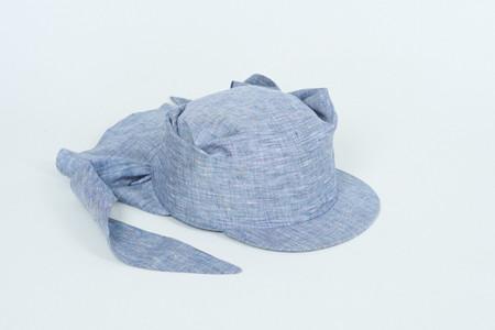 Clyde Tie Visor Cap in Grey Melange