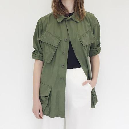 Unisex Johan Vintage Poplin Army Jacket