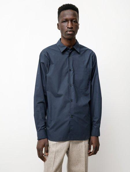 Margaret Howell New Basic Shirt - Matte Poplin French Navy