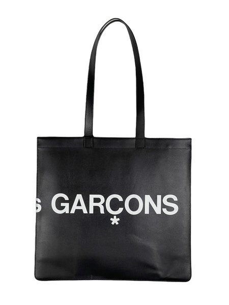 Comme Des Garçons Huge Logo Leather Tote