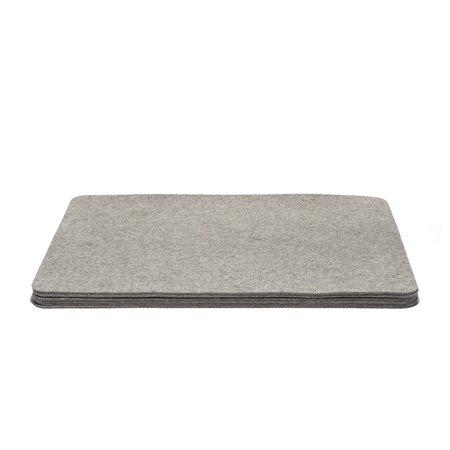 Graf Lantz Rectangle Felt 6 Pack Placemat - Granite