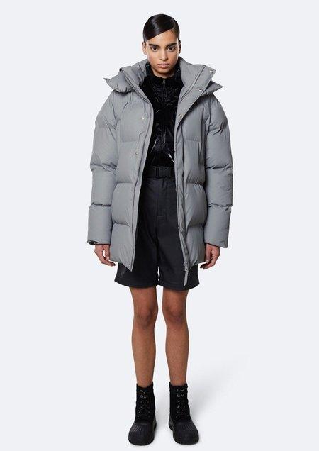 Rains Hooded Puffer Jacket - Rock