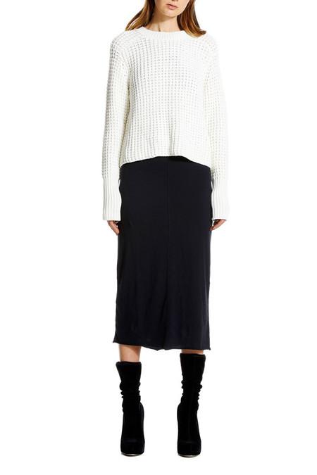 NEUW Waffle Knit Sweater - White
