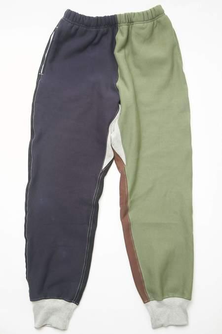 Engineered Garments Cotton Heavy Fleece Workaday Combo Sweatpant - Olive