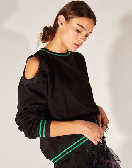 Cynthia Rowley Cold Shoulder Sweatshirt