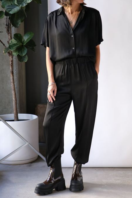 Raquel Allegra Dainty Collar Blouse - Black