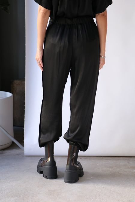 Raquel Allegra Tuxedo Tracker Pant - Black