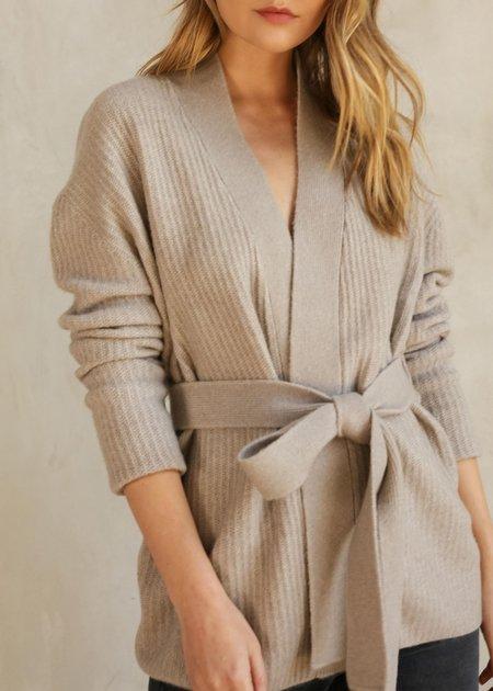 Lena Kimono Wrap Tie Taupe Cardigan