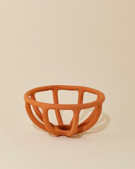 Virginia Sin Prong Fruit Bowl - Terracotta