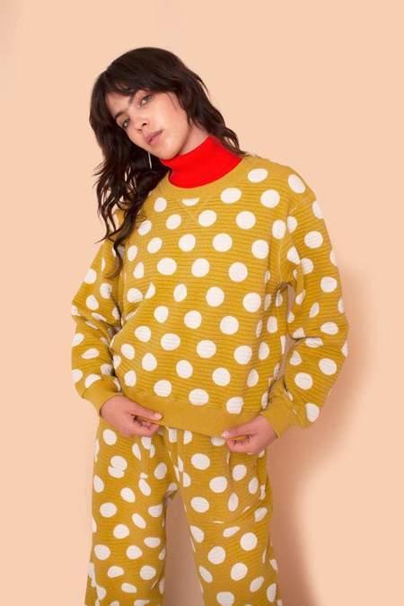 L.F.Markey Thierry Sweatshirt - Chartreuse Dots