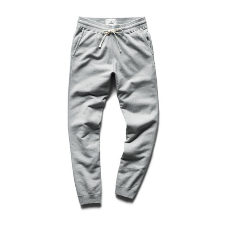 Reigning Champ Midweight Terry Slim Sweatpant - Heather Grey