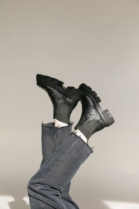 Sister X Soeur Pippa Boot - Black Croc