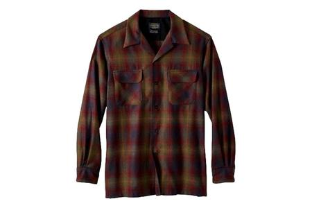Pendleton Board Shirt - Green/Red Ombre