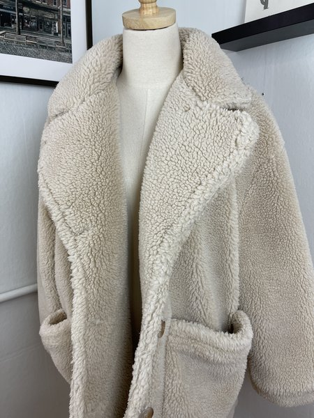 [PRE-LOVED] Sans Succi Plush Teddy Coat - Tan