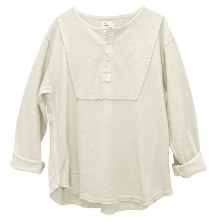 Kids Nico Nico Antoni Henley T-shirt - Bone Cream