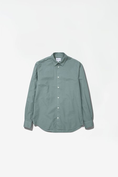 Norse Projects Hans cotton linen GMD Shirt  - Mineral blue