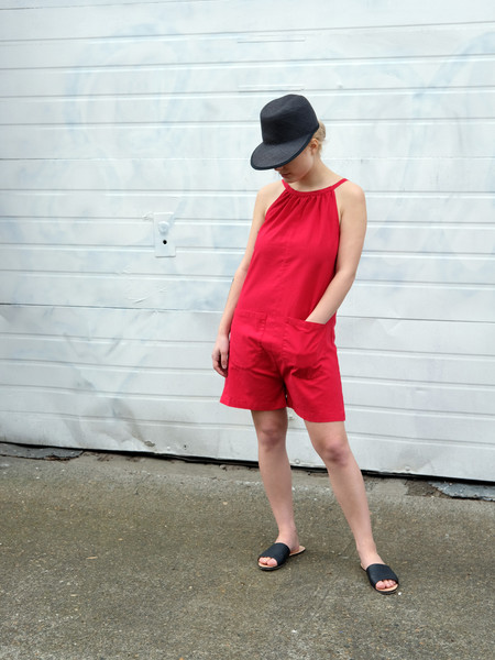 Carleen Bart Romper in Red