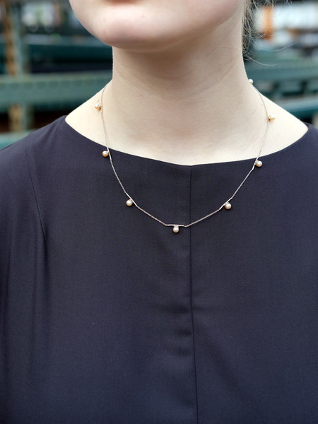 Better Late Than Never Catena Collar With Pearls