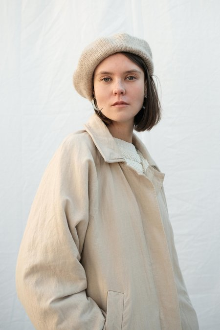 Micaela Greg Sherpa Lined Trench Coat - Sand