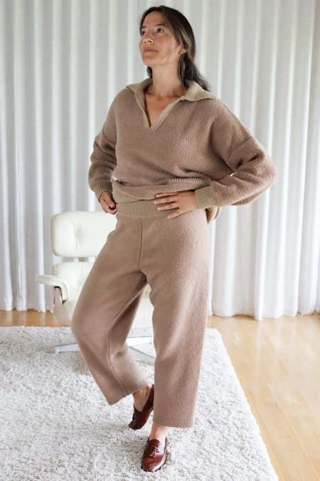Mónica Cordera Shearling Pants - Camel