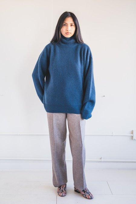Seya Turtleneck Cloud Sweater - Blue