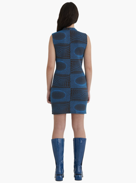 Paloma Wool Helios Dress - Shiny Blue/Black