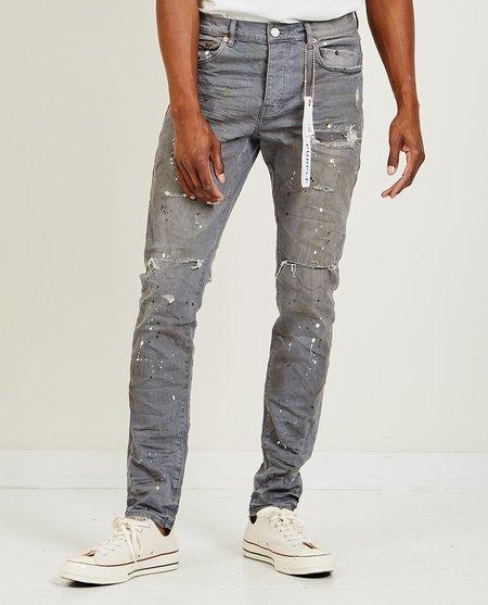 Purple Brand P001 Low Rise Skinny Jeans - Vintage Grey Paint