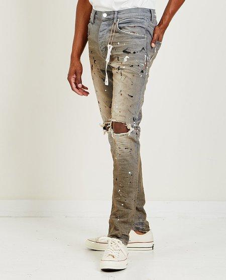 Purple Brand P002 Mid Rise Slim Jeans - Grey Granite Paint