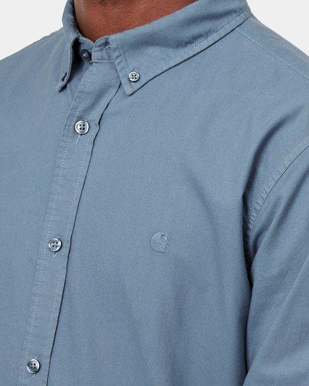 Camisa LS Bolton - Icesheet (garment dyed)