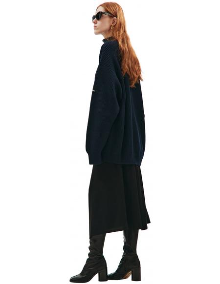 Balenciaga Wool high neck sweater - Navy blue