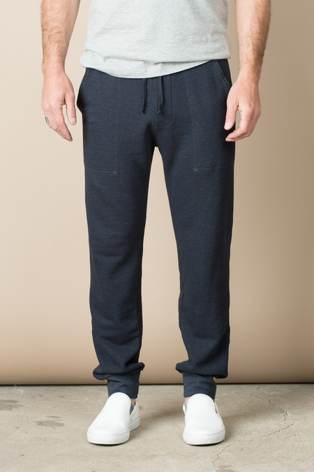Save Khaki French Terry Overdye Sweatpant In Charcoal Marine