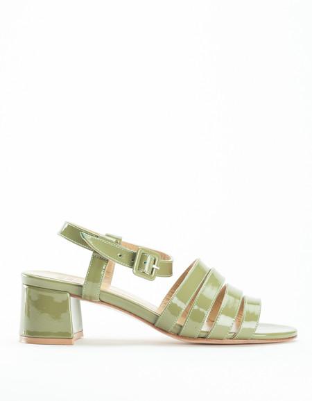 Maryam Nassir Zadeh Palma Low Sandal Patent Moss Green