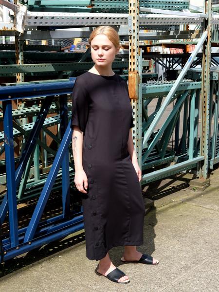 Wolcott Takemoto Hamlet Dress in Black Twill
