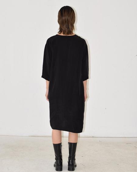 Square Neck Dress Black