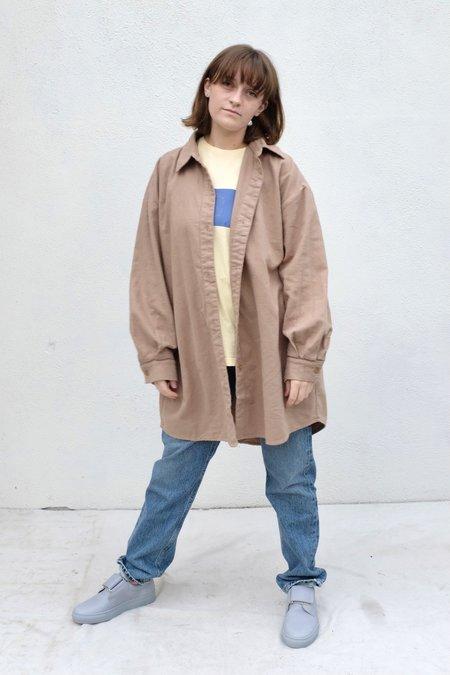 Atelier Delphine Oversized Overlay Flannel Shirt- Grey