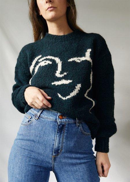 Paloma Wool Anita Sweater - Granite Dark Green