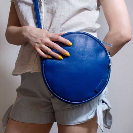 Woolfell 'Orbit' purse - blue