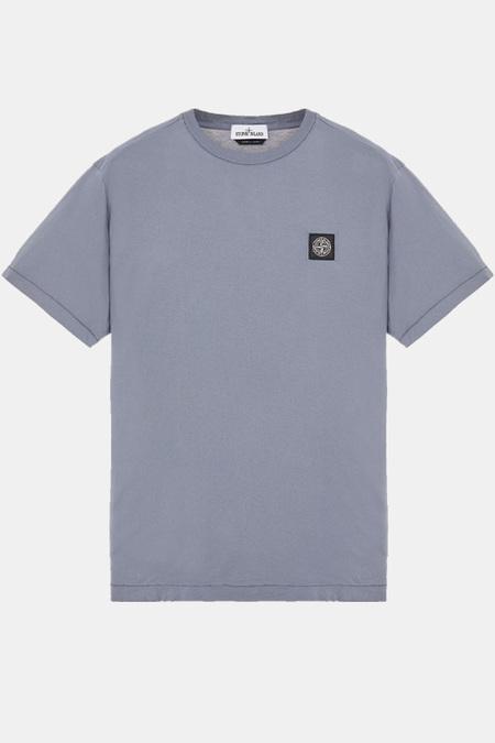 stone Island Chest Logo SS Mid T-Shirt - Blue