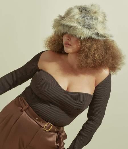 Clyde Fur Bucket Hat - Fox