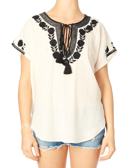 Star Mela Lani Embroidered Top