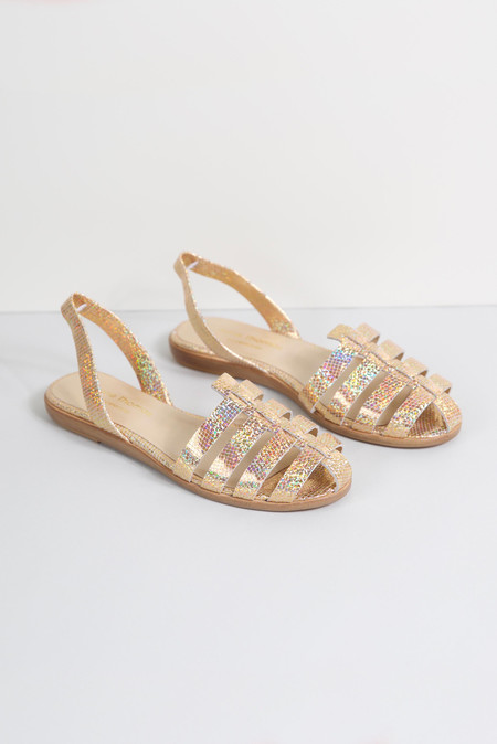 Anne Thomas Gold Meatpacking Sandals