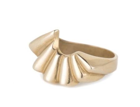 Isobel and Ezra Rina Ring Yellow Bronze