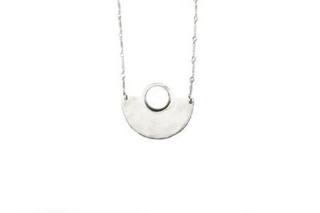Isobell Designs Moon Rise Necklace White Quartz